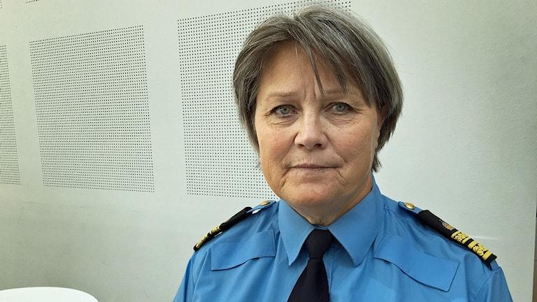 Agneta Kumlin, polischef i norra Västmanland.
