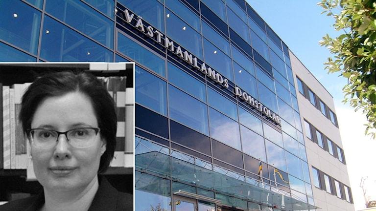 Advokat Katerina Tomiss Blissinger och Västmanlands tingsrätt.