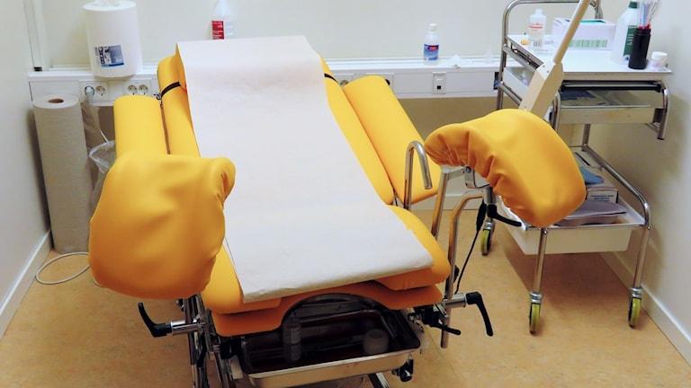 Rum för gynekologiska undersökningar.