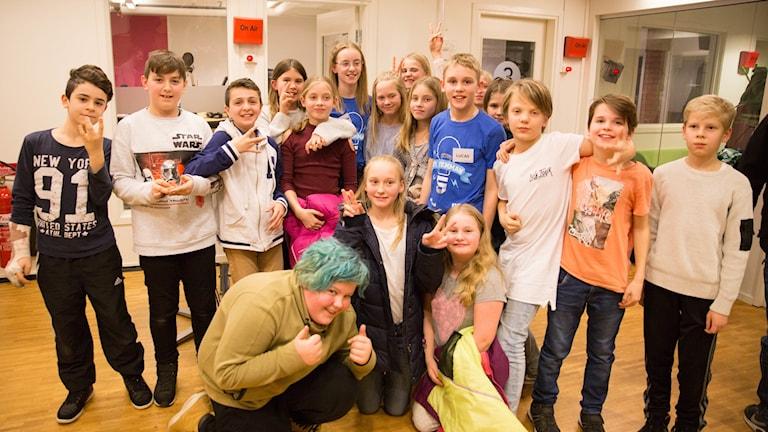 Vinnarna i första semifinalen blev Hagabergskolan klass 5.