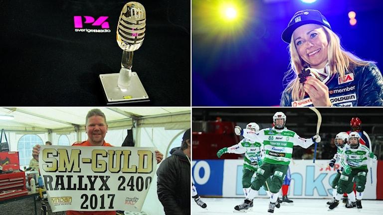 Frida Hansdotter, Niclas Härdevik Norström och VSK Bandy damer är slutkandidaterna.
