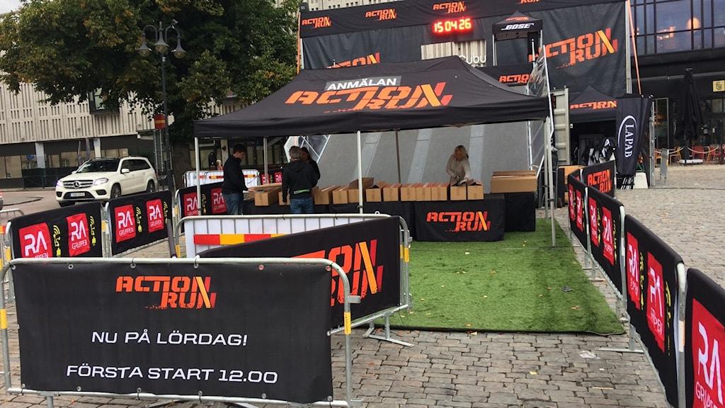 Action run i Västerås.