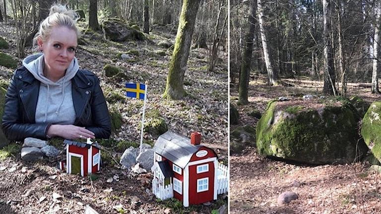 Malin Karlsson, västeråsaren bakom hyllade minihusen på Björnön.