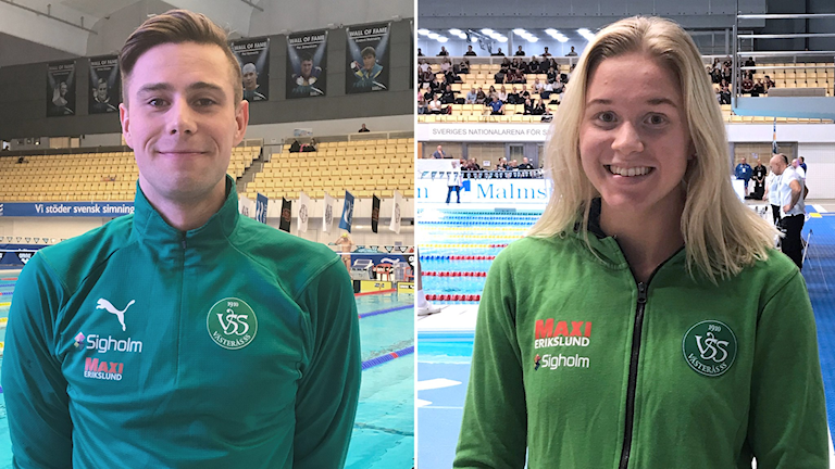 Gustaf Dahlman och Hannah Brunzell, SM-guldmedaljörer i VSS.