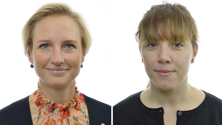 Åsa Eriksson (S) riksdagsledamot och  Vasiliki Tsouplaki (V) riksdagsledamot.