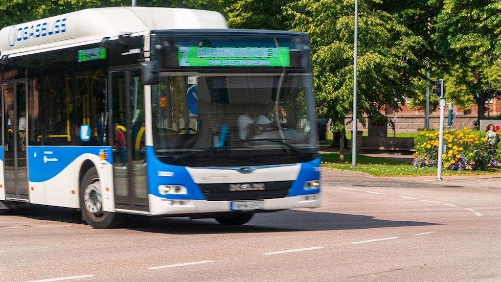 Buss i Västerås.