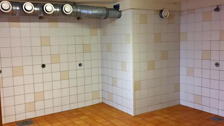 Duschrum Karlbergsskolan i Köping.