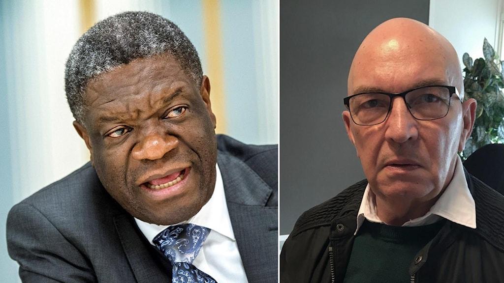 Denis Mukwege och Lennart Ögren.