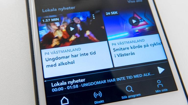 lokala nyheter i appen SR play