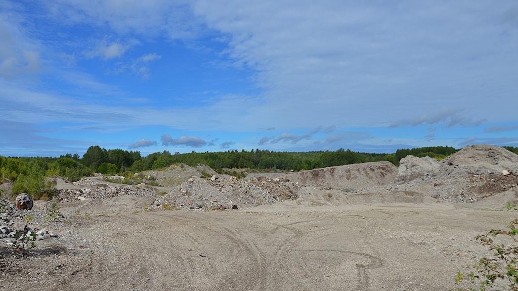 Slaggdeponin Norra industriområdet Fagersta.