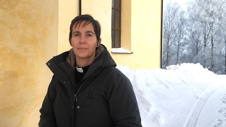 Sara Kjellerhag, präst i Möklinta kyrka.