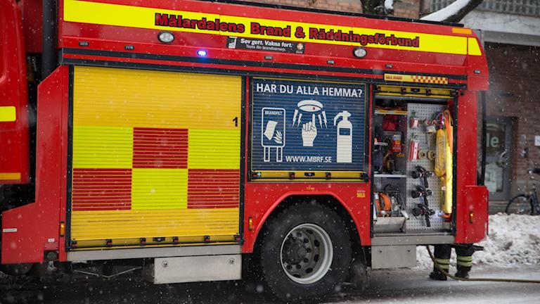 Brandbil brandman mälardalens brand & räddningsförbund MBR