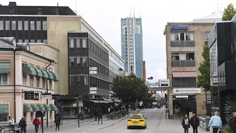 Gatubild Västerås Centrum.