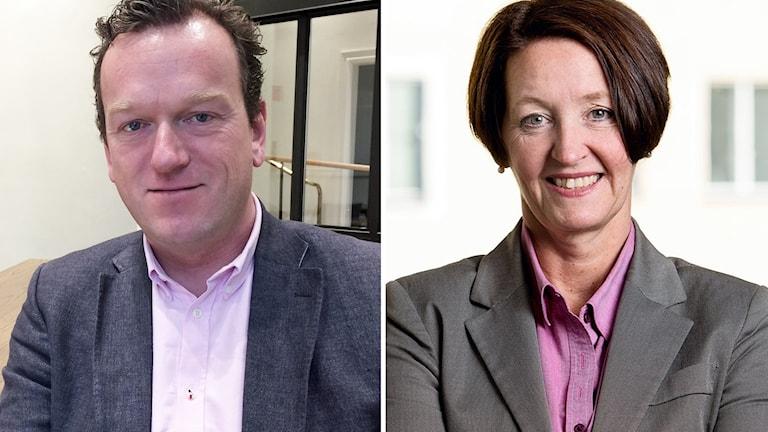 Kent Ackholt, ombudsman på LO, och Ann-Kari Edenius, förbundsdirektör Bemanningsföretagen.