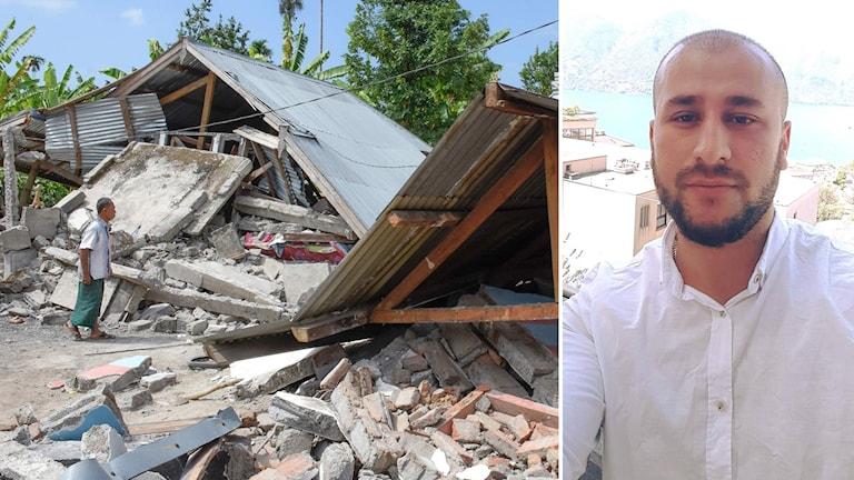 Jordskalv i Indonesien och läkaren Arez Anayati.