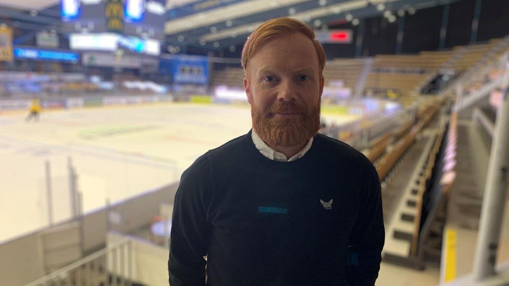 Eriq Christiansson, försäljningsansvarig hos Västerås IK.