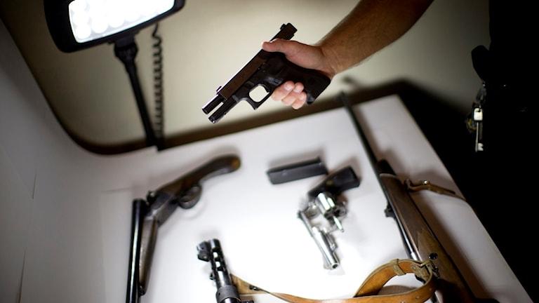 Skjutvapen.