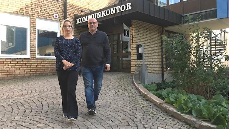 Johanna Skottman (S), kommunstyrelsens ordförande i Surahammar och kommunstyrelsens 2:e vice ordförande Erkki Visti (C).