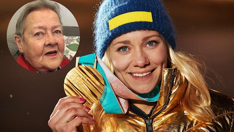 Guld-mormor Gun Westring i Norberg satt uppe i natt och följde dramatiken när Frida Hansdotter tog OS-guld.