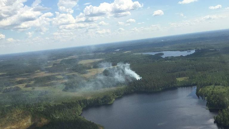 Skogsbrand vid Östra Noren.