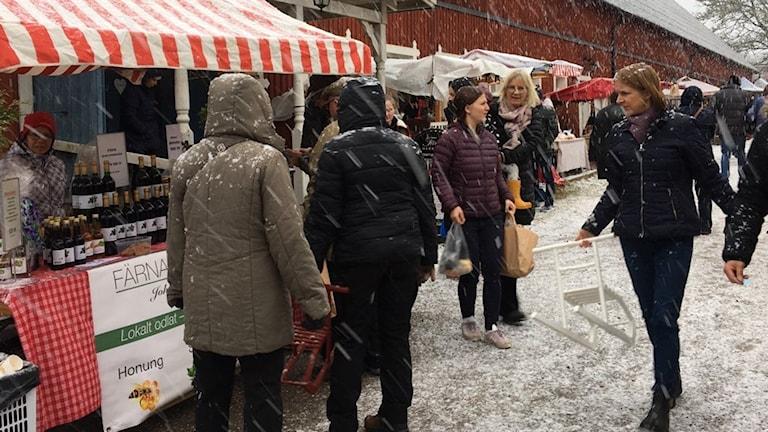 Julmarknad i Färna.