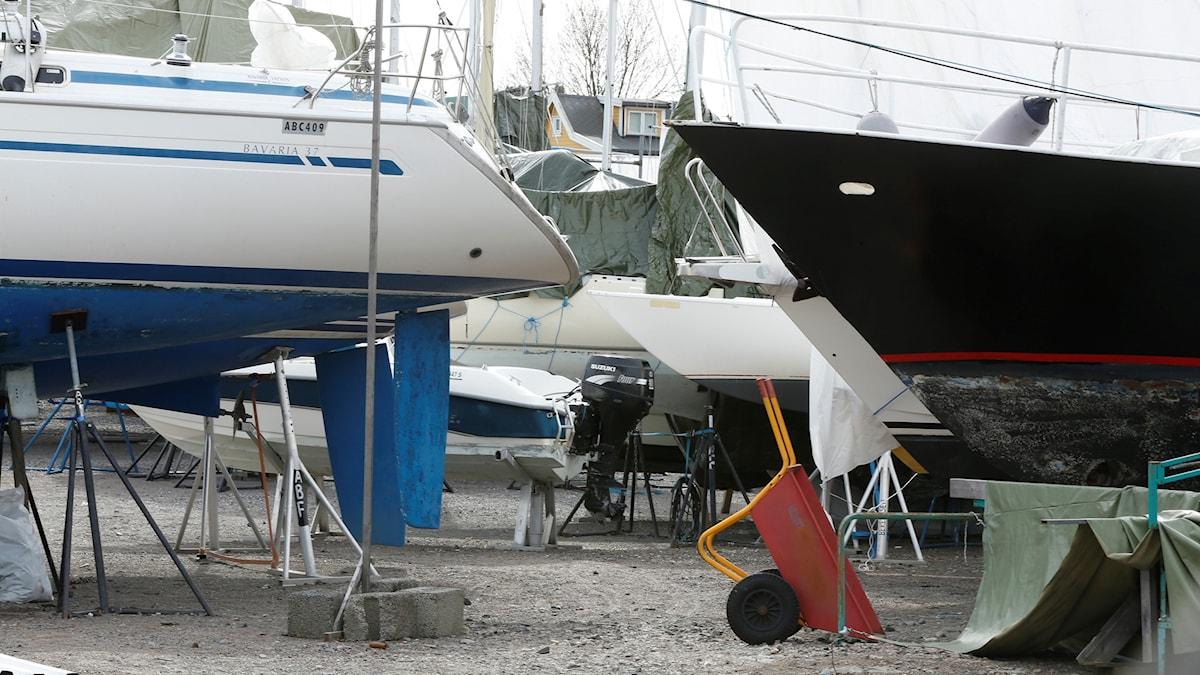 Båtluppläggningsplats.