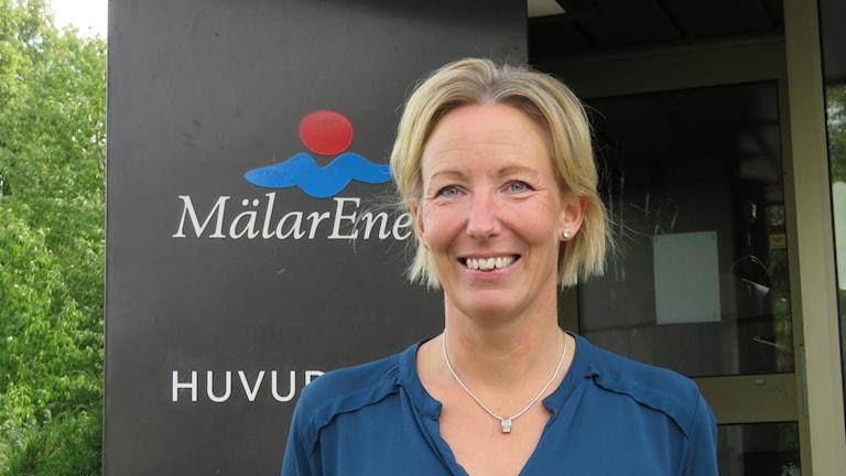 Cecilia Johansson på Mälarenergi, projektledare för Stadens kontrollrum.