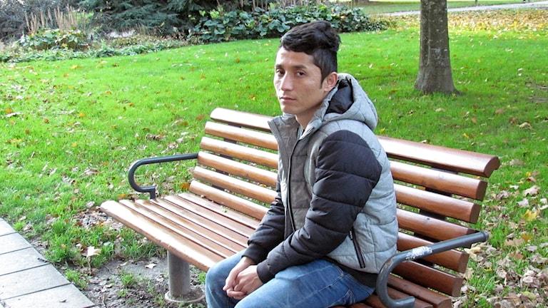 Peyman Muhammadi, asylsökande i Västerås.
