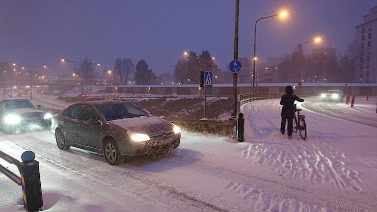 Snö ovädret i Västmanland orsakade fler olyckr.