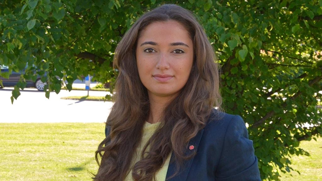 Djeila Ahundzada, ordförande för SSU i Västmanland och riksdagskandidat. Foto: Pressbild.
