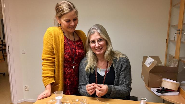 Frida Wallertz och Eva Haarberg, båda ämneslärare på Magelungens resursskola
