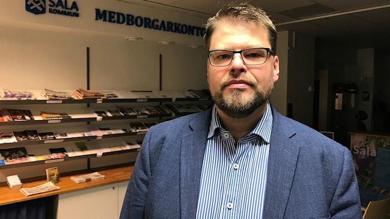 Kommunstyrelsens ordförande i Sala, Anders Wigelsbo (C).