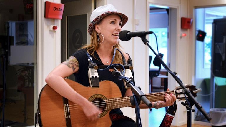 Sonja Skibdahl på Radioscenen.