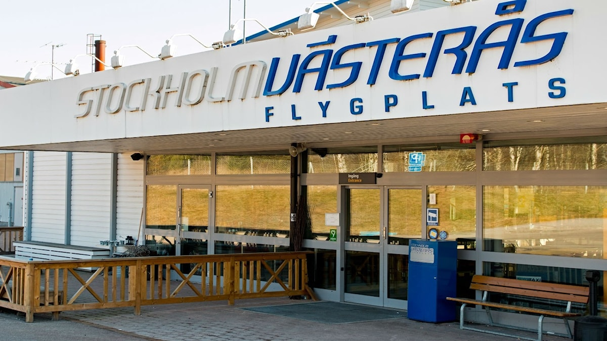 Västerås Flygplats huvudentré. Foto: Andreas Eriksson/Sveriges Radio.
