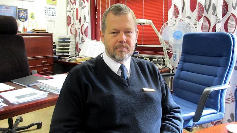 Åke Broman, chef på Mälardalens brand- och räddningsförbund.