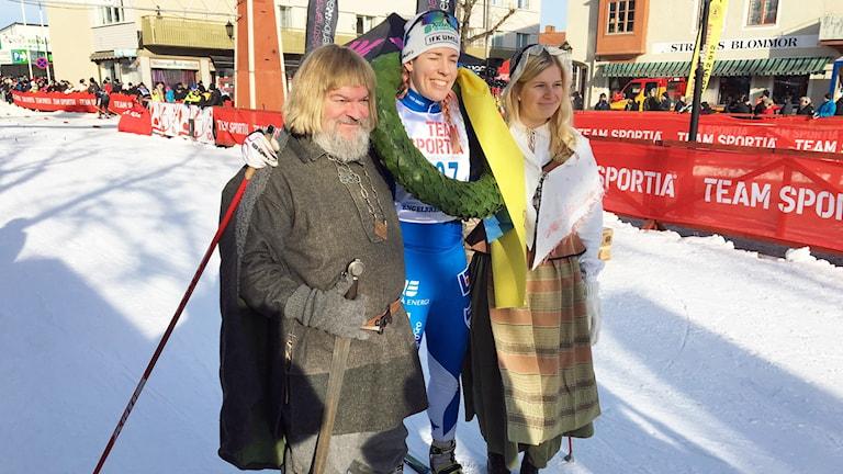 Terese Terell blev första kvinnan i mål.