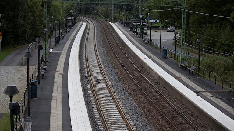 Tågförsening.