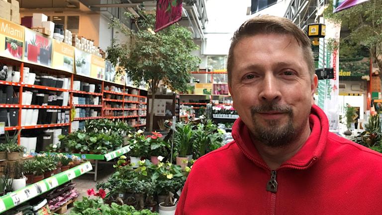 Andreas Andersson på Bauhaus i Västerås.