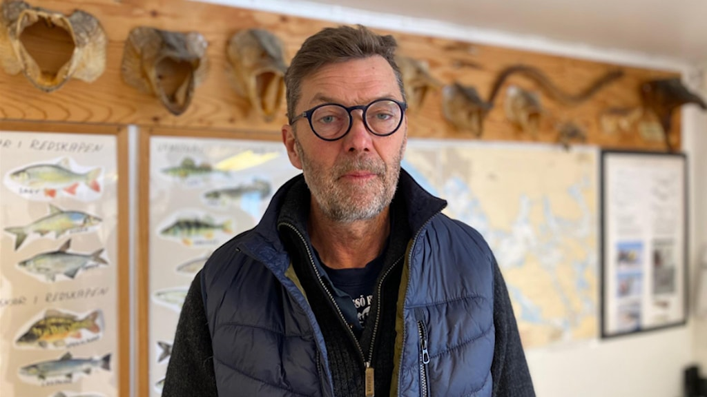 Yrkesfiskaren Per Vidlund.