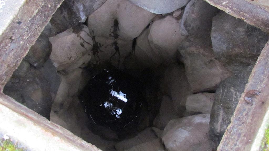 Lågt grundvatten i brunn.