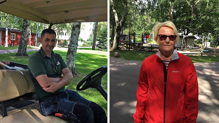 Fastighetsskötare Skender Kryezin och Marita som bor på Odensvi i Västerås.