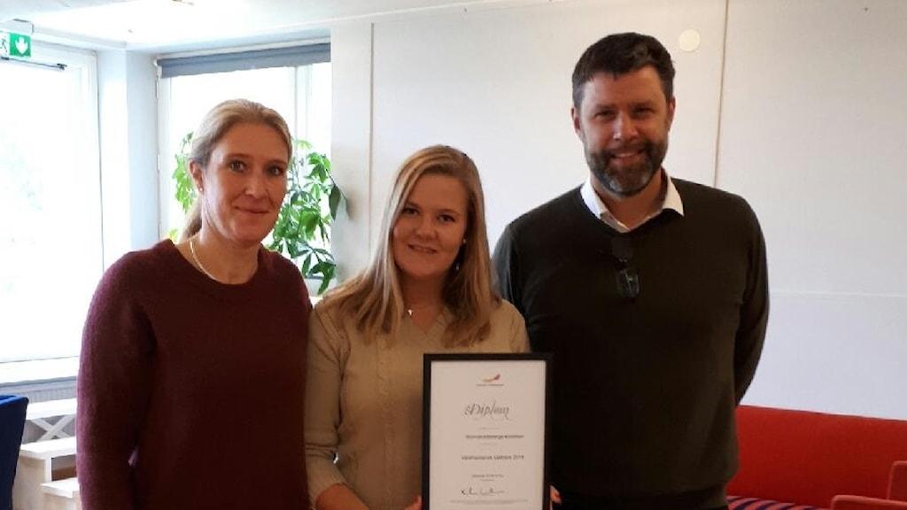 Carina Sándor, (L), Therese Kihlander och Jan Jäder.