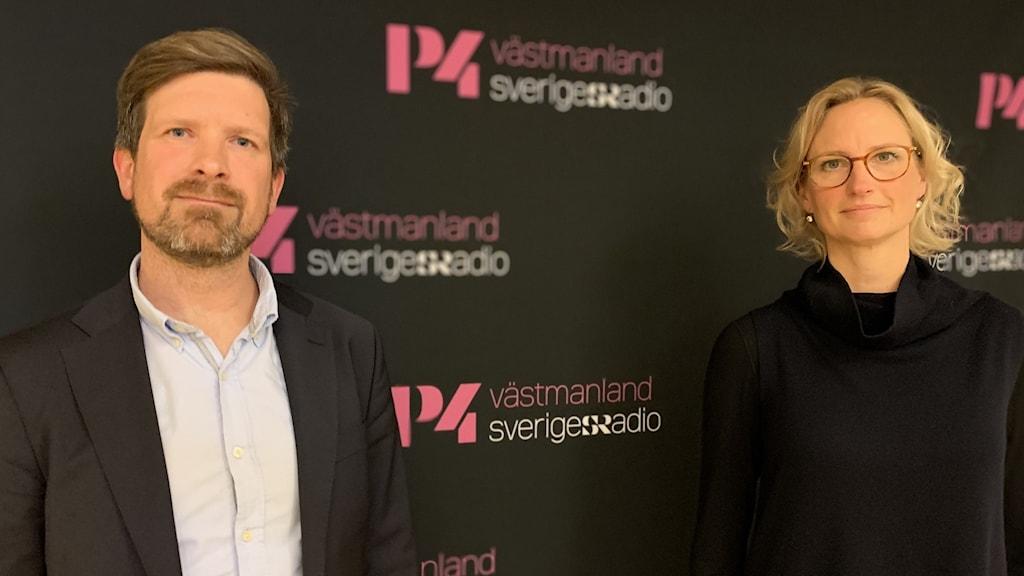 Mikael Damsgaard är moderat riksdagsledamot från länet och Åsa Eriksson som är socialdemokrat och riksdagsledamot från Västmanland.