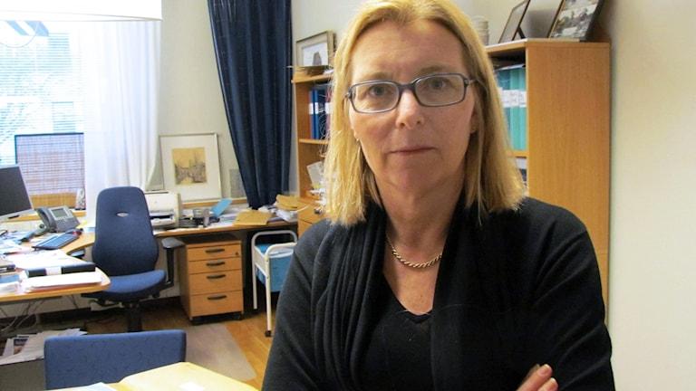 Elisabeth Unell, ordförande för Moderaterna i Västmanland.
