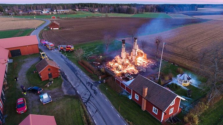 Villa brann ned i Västerfärnebo.