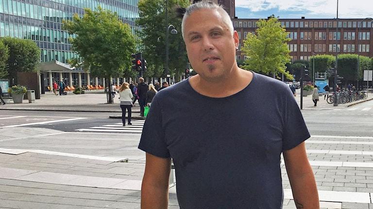 Västeråsaren Fredric Abbetoft som blivit suring.