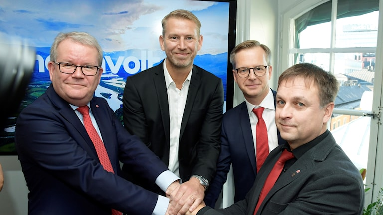 Anders Teljebäck, Peter Carlsson, Mikael Damberb och Lorents Burman.