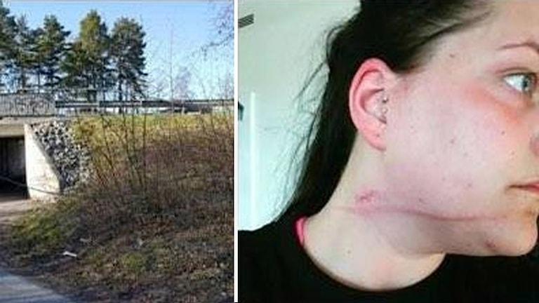 Emma Malmström gjorde sig illa efter att hon cyklade på en ståltråd i Västerås.