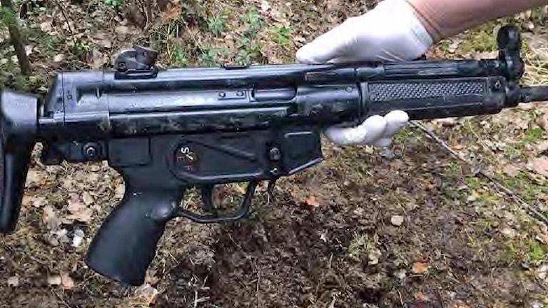 Vapen från Polisens beslag.