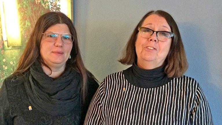 Claudia Bruschi Ghobadi och Lena Nyman arrangörer av Barnrättsdagen.